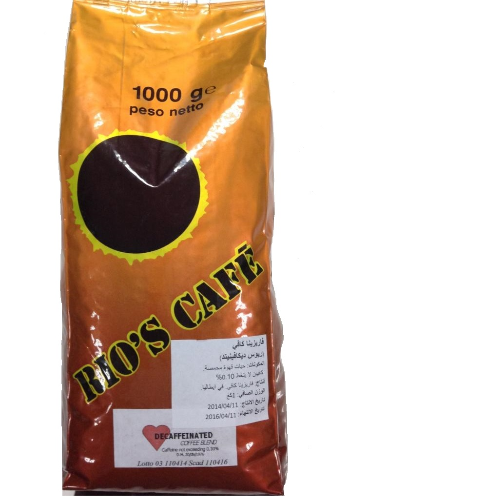 DECAFFEINATED ROASTED COFFEE BEANS
