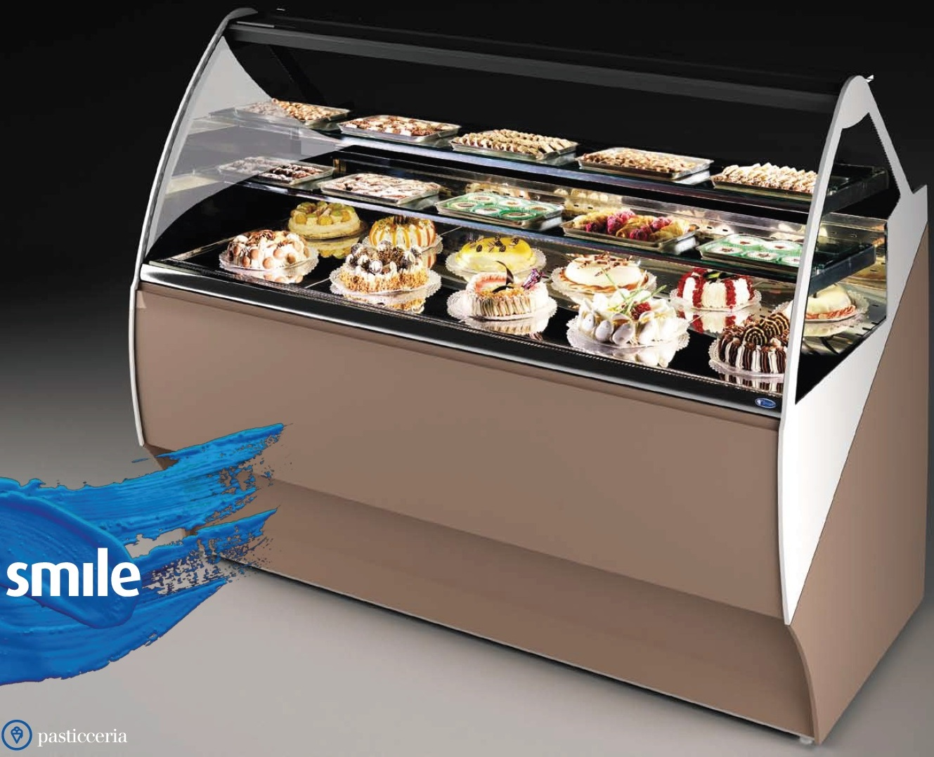 SMILE 18 FLAVOURS - DISPLAY CABINET FOR PASTRY OR FOR GELATO