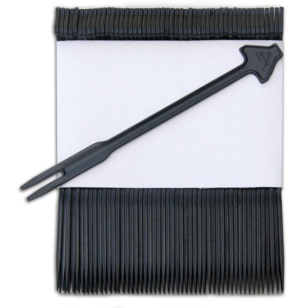Plastic Fondue Skewers (Black) (1,000 pc box)