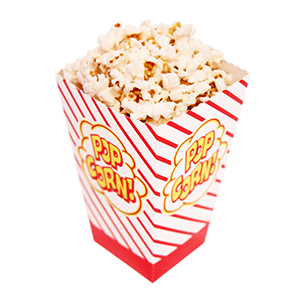 Open-Top Popcorn Boxes - 500 x 2 oz