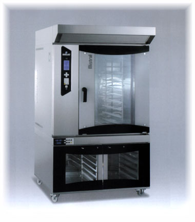 E2 - T10 Electric Rotor Oven and Rack for 10T 40x60 S/Steel with Proover