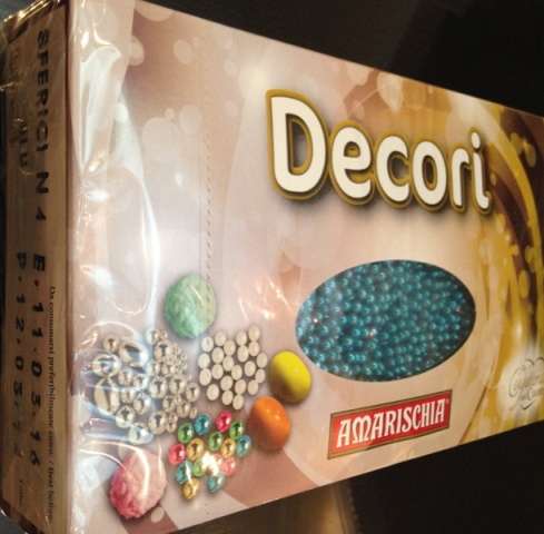 DECORI SUGAR BALL N.4 BLUE SILVER