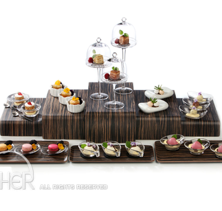 ZIEHER PODIA BUFFET DISPLAY